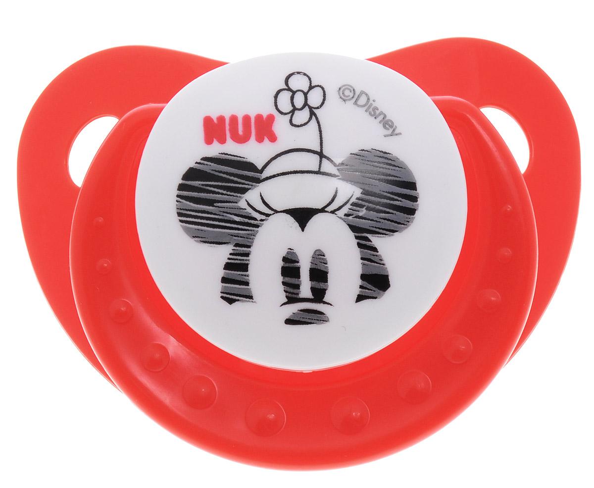 NUK Пустышка силиконовая ортодонтическая Дисней Микки от 6 до 18 месяцев