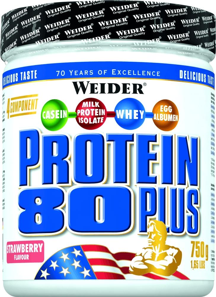 Протеин Weider Protein 80+ 750г клубника