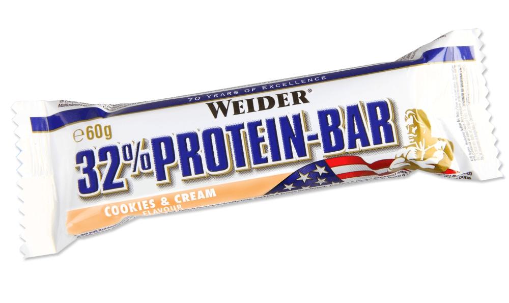 Протеиновый батончик Weider 32% Protein Bar 60g крем-печенье