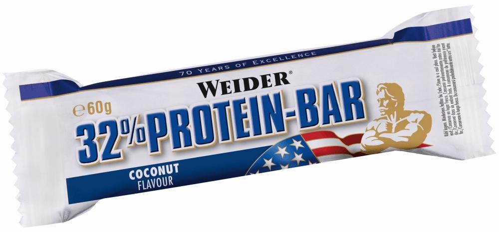 Протеиновый батончик Weider 32% Protein Bar 60g кокос