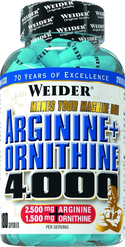 Аргинин Weider Arginine + Ornithine 400031632Аминокислотный комплекс, содержащий высокие концентрации L-аргинина и L-орнитина! L-Аргинин стимулирует выработку гормона роста, что способствует уменьшению жировых отложений и росту мышечной массы. Дополнительный прием L-Аргинина в особенности необходим интенсивно тренирующимся атлетам после 30 лет, когда его естественная секреция полностью прекращается! L-орнитин – аминокислота, которая стимулирует выделение инсулина и помогает инсулину действовать в качестве анаболического гормона. Дополнительный прием L-орнитина поможет Вам похудеть и улучшить форму тела, пока вы спите! Кроме того, L-орнитин действует как гепатопротектор, регенерируя ткани печени, и участвует в процессе детоксикации аммиака! Рекомендации по применению: Принимать 3 капсулы перед тренировкой и 3 капсулы перед сном