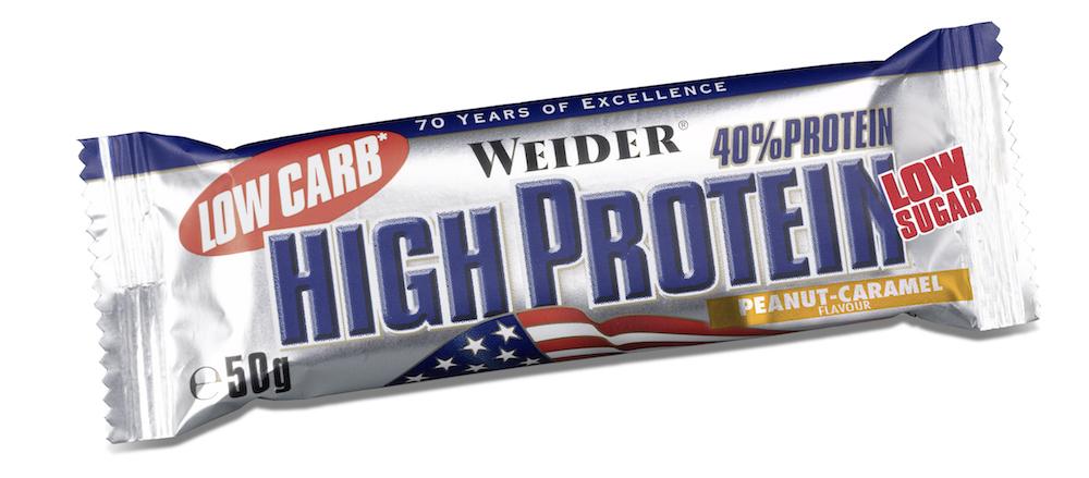 Протеиновый батончик Weider Low Carb High Protein 50g арахис-карамель