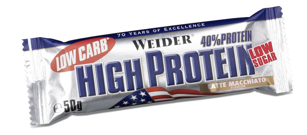 Протеиновый батончик Weider Low Carb High Protein 50g латте-маккьятто