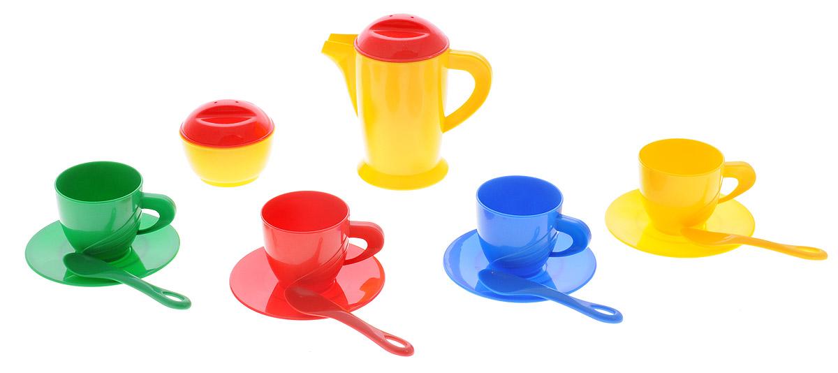 Molto Игровой набор посуды для завтракаM 5703Игровой набор посуды для завтрака Molto станет отличным подарком для вашей малышки. С помощью этого набора маленькая хозяйка сможет приготовить завтрак для своих любимых кукол, так же как это делает мама. В набор входят самые необходимые предметы, которые могут понадобиться юной хозяйке: 4 чашки, 4 блюдца, 4 ложки, сахарница с крышкой, графин с крышкой. Наличие такого набора у ребенка убережет его от бытовых травм, которые он может получить на кухне, пытаясь ознакомиться с настоящей кухонной утварью. Во время игры ребенок освоит новые для него предметы, узнает их названия и научится правильно пользоваться столовыми приборами.