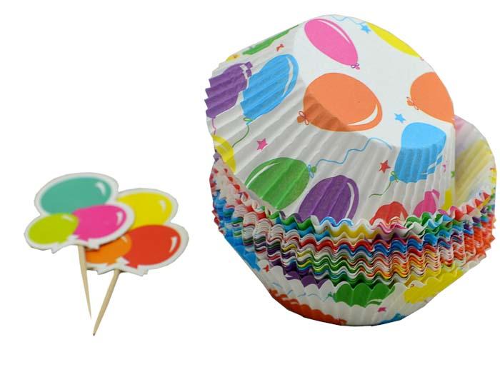 Набор для выпечки и украшения кексов Marmiton Воздушные шары17055_шарики