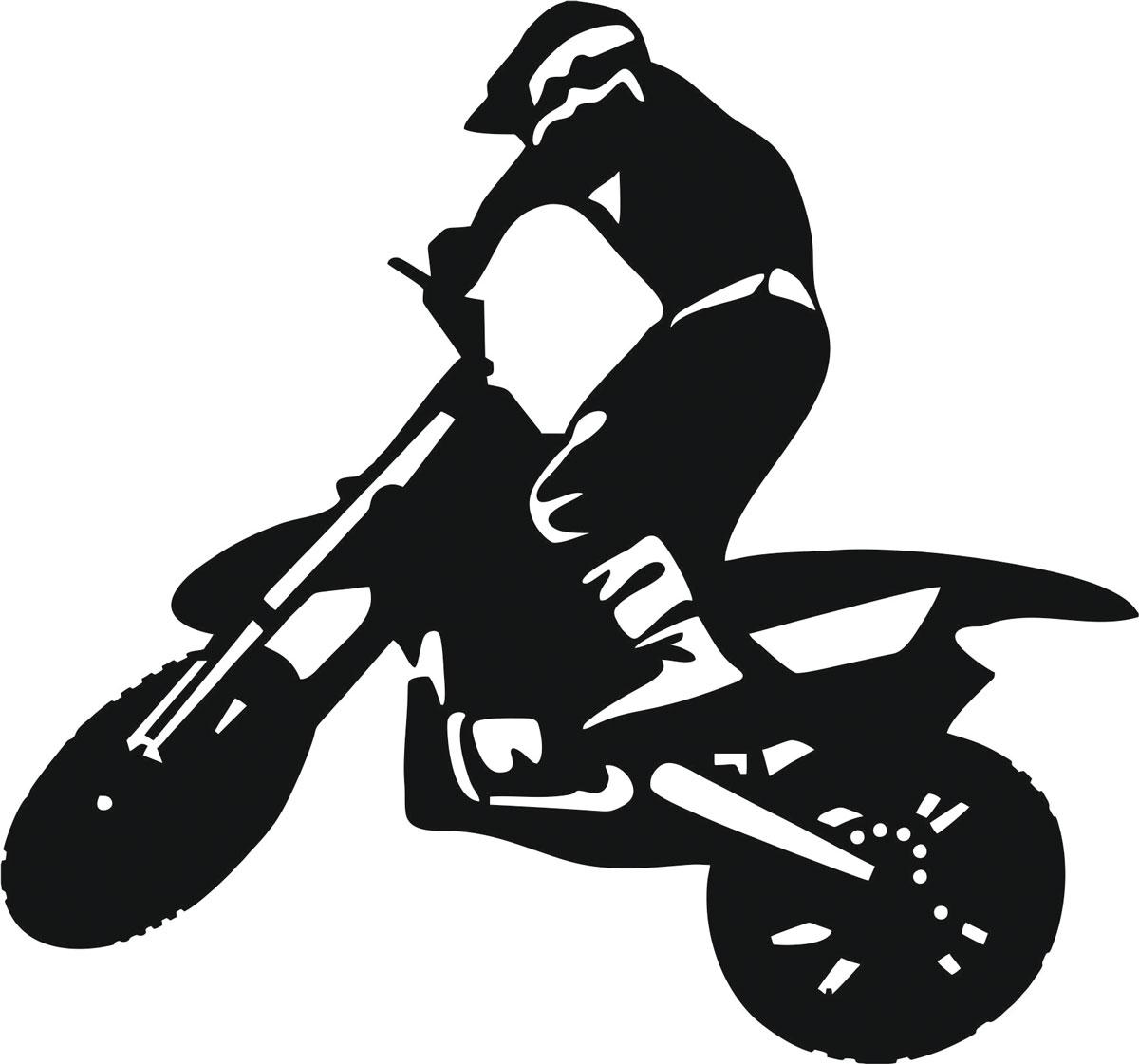 Наклейка автомобильная Оранжевый слоник Мотоциклист 5, виниловая, цвет: черный150MT0005BОригинальная наклейка Оранжевый слоник Мотоциклист 5 изготовлена из высококачественной виниловой пленки, которая выполняет не только декоративную функцию, но и защищает кузов автомобиля от небольших механических повреждений, либо скрывает уже существующие. Виниловые наклейки на автомобиль - это не только красиво, но еще и быстро! Всего за несколько минут вы можете полностью преобразить свой автомобиль, сделать его ярким, необычным, особенным и неповторимым!