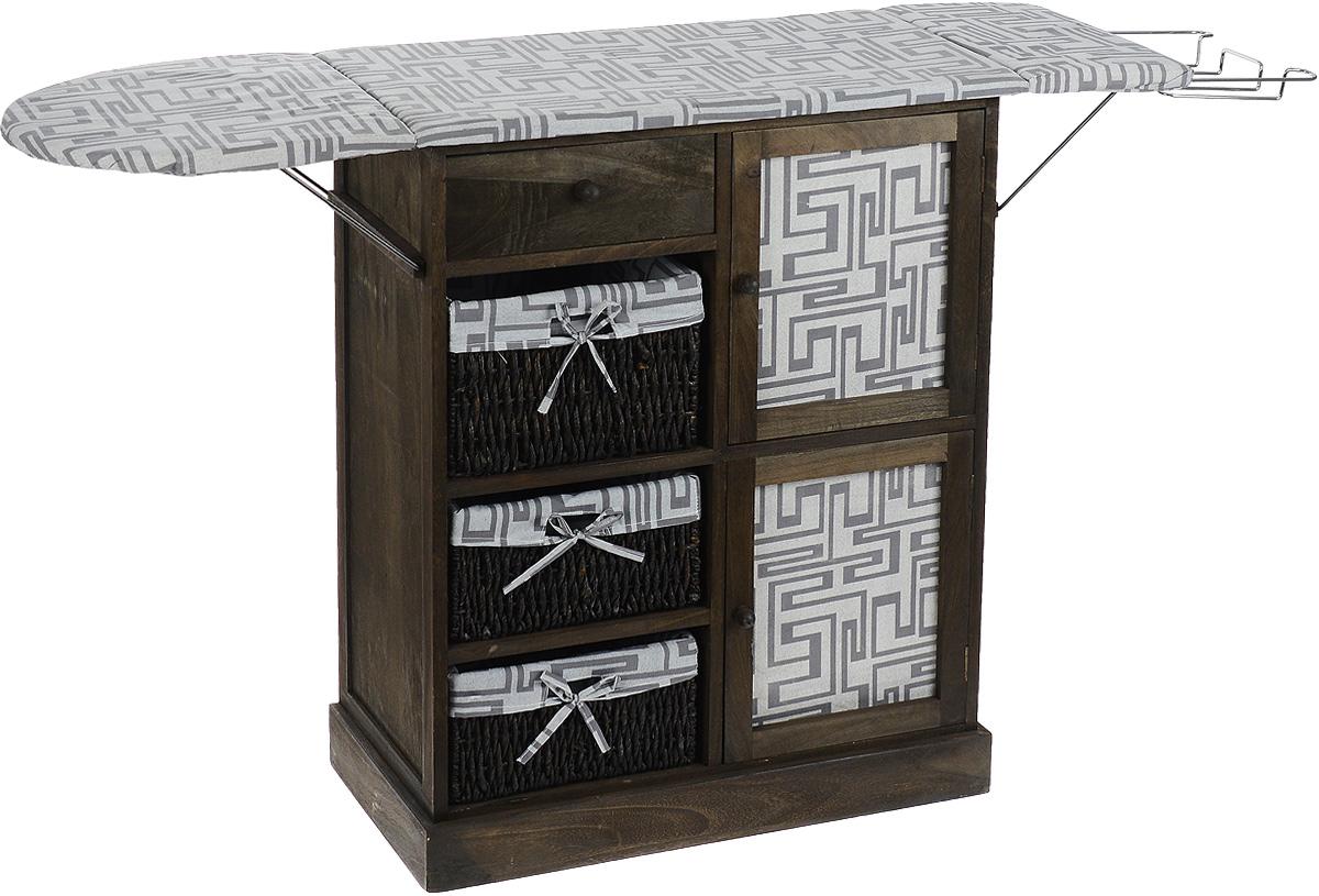 Гладильный комод с 3 корзинами, ящиком и дверцей