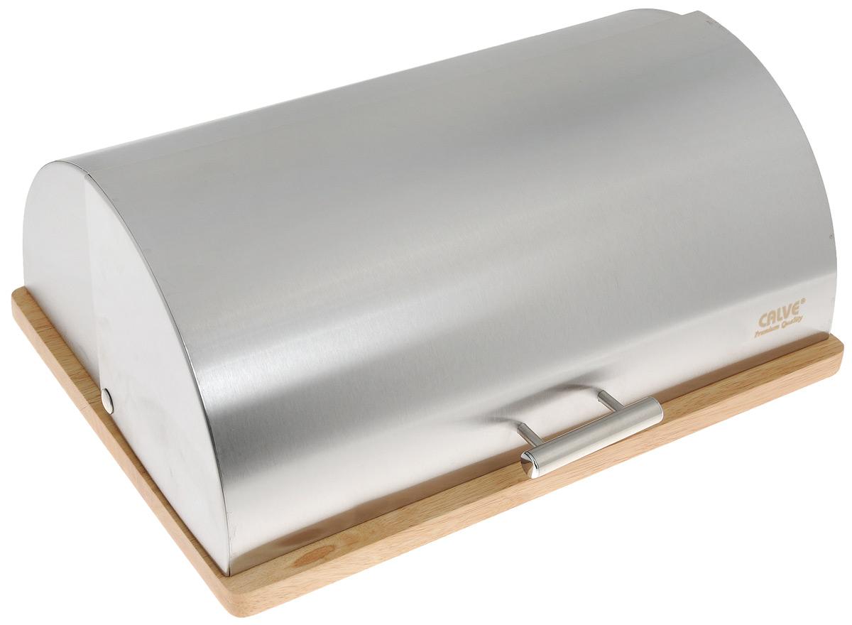 Хлебница Calve, 39 х 28 х 16 см. CL-4153CL-4153Хлебница Calve изготовлена из высококачественной нержавеющей стали. Деревянная подставка обеспечивает устойчивое расположение. Крышка плотно и легко закрывается. Стильная хлебница прекрасно впишется в интерьер кухни и надолго сохранит ваш хлеб вкусным и свежим. Толщина стенок: 0,5 мм.