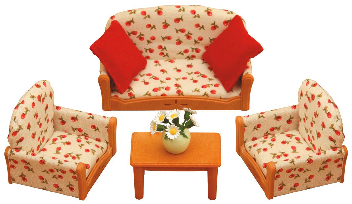Sylvanian Families Набор мягкой мебели для гостиной2922SС таким набором мягкой мебели герои Sylvanian Families смогут комфортно отдохнуть всей семьей, удобно устроившись на мягкой мебели. Набор мягкой мебели для гостиной состоит из дивана, двух кресел, стола, двух подушек, вазы с цветами. Компания была основана в 1985 году, в Японии. Sylvanian Families очень популярен в Европе и Азии, и, за долгие годы существования, компания смогла добиться больших успехов. 3 года подряд в Англии бренд Sylvanian Families был признан Игрушкой Года. Сегодня у героев Sylvanian Families есть собственное шоу, полнометражный мультфильм и сеть ресторанов, работающая по всей Японии. А главным событием уходящего года стала премьера мюзикла. Sylvanian Families - это целый мир маленьких жителей, объединенных общей легендой. Жители страны Sylvanian Families - это кролики, белки, медведи, лисы и многие другие. У каждого из них есть дом, в котором есть все необходимое для счастливой жизни. В городе, где живут герои,...