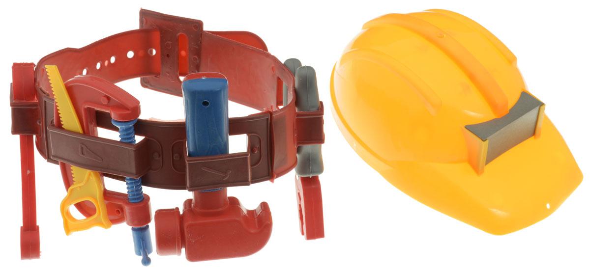 Plastic Toy Игровой набор строительных инструментов цвет каски желтыйL458-H24002_желтая каскаИгровой набор строительных инструментов Plastic Toy станет отличным подарком для маленького мастера. В наборе имеется все, что может пригодиться юному строителю: молоток, ручная пила, гаечный ключ, плоскогубцы, винтовой зажим, пояс для инструментов, каска. Малыш сможет отремонтировать игрушки и устранить все неисправности в доме, помогая папе. Игры с этим набором способствуют развитию воображения и познавательного мышления. Изделия набора выполнены из нетоксичного и качественного пластика.
