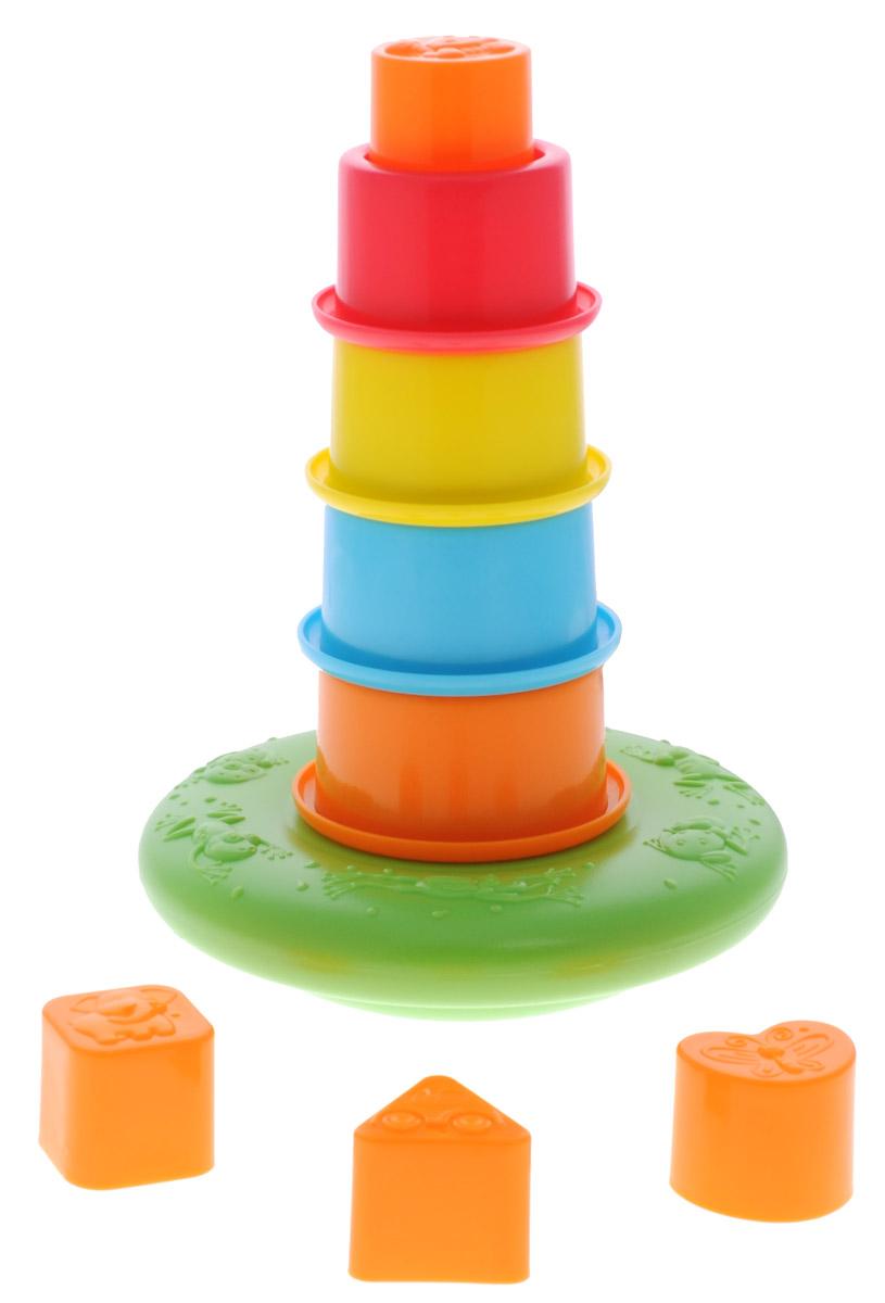 Playgo Пирамидка Плавающая башняPlay 2415Пирамидка Playgo Плавающая башня представляет собой башню из пластиковых стаканчиков на основании. Ребенок сможет строить пирамидку и играть с ней в игровой комнате, а также весело плескаться водой из колпачков при купании. Малыш придет в восторг от такой замечательной игрушки. Изделие выполнено из высококачественного пластика и покрыто безопасными для детей красками.