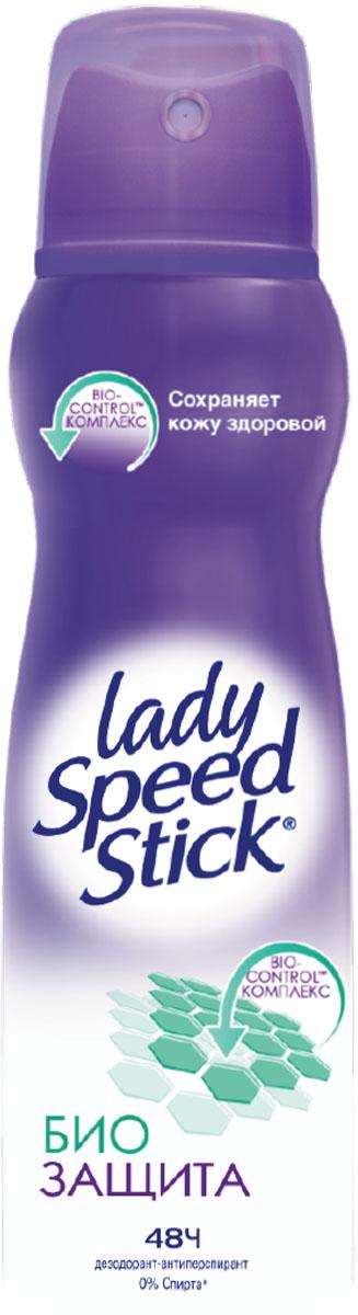 Lady Speed Stick Дезодорант-спрей Био Защита, 150 мл0410682797Клинически протестировано дерматологами, Bio-control комплекс обеспечивает эффективную защиту от пота и запаха на 48 часов без негативного воздействия на кожу, не раздражает кожу, поддерживает кожу здоровой и защищенной, не содержит этилового спирта.