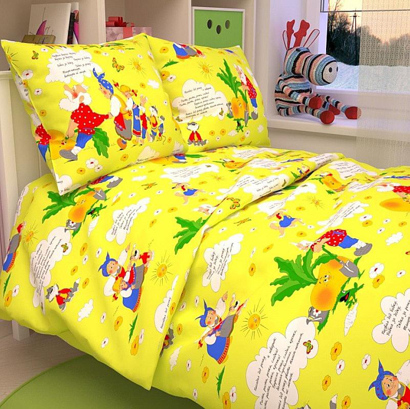 Letto Комплект детского постельного белья Репкаrepka_yellow50Letto.kids - это веселые детские и подростковые дизайны, в хлопковом исполнении с хорошими устойчивыми красителями и все это по очень доступной цене! Такое белье прослужит долго и выдержит много стирок. Рисунок на наволочке может отличаться от представленного на фото.