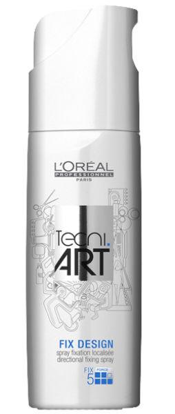 LOreal Professionnel Tecni. art Fix Спрей для локальной фиксации (фикс.5) 200 млE0613638Анионные полимеры средства L`Oreal Professional Фикс Дизайн сверхсильной фиксации надежно защищают ваши волосы от вредного воздействия окружающей среды. Полимеры крепятся на поверхности волоска и, окружая его, создают защитный слой. При этом ваши волосы выглядят более эластичными и крепкими. Спрей также содержит специальный компонент для легкого расчесывания и придания мягкости волосам. УФ-фильтры, входящие в состав спрея, эффективно защищают ваши волосы от вредного солнечного излучения. Спрей Фикс Дизайн подходит для любого типа волос. Уровень фиксации: 5 (сверхсильная фиксация).