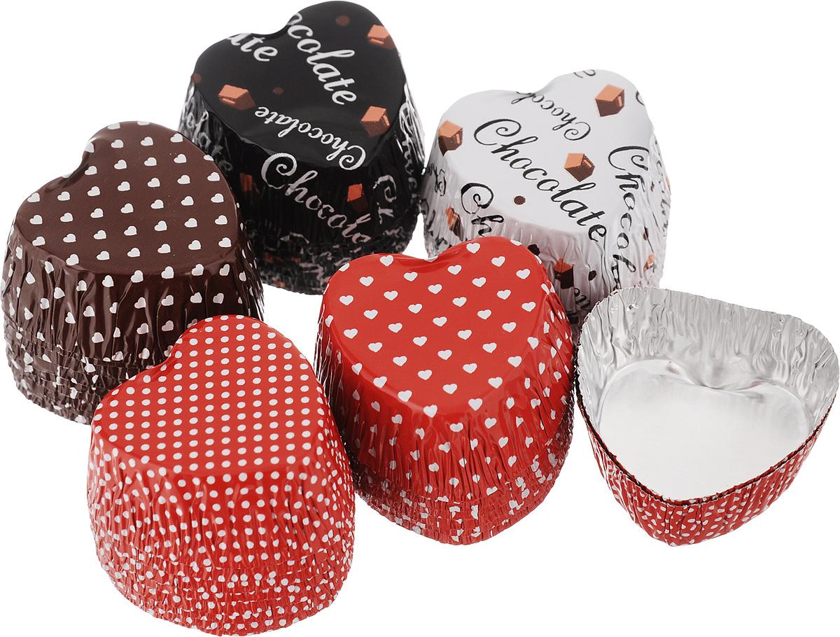 Набор форм для приготовления конфет Едим Дома Сердечки, 3 х 1,5 см, 50 шт62349_сердечкиНабор Едим Дома Сердечки состоит из 50 форм для приготовления конфет, карамели, леденцов и мармелада. Формы изготовлены из особо прочной алюминиевой фольги и имеют дополнительные ребра жесткости. В формах из фольги можно запекать либо замораживать домашние сладости. Формочки с ярким, привлекательным рисунком можно использовать как упаковку для приготовленных сладостей. Помещенные в красивую коробку, они станут прекрасным подарком для ваших друзей и близких. Размер формы: 3 х 3 см. Высота формы: 1,5 см.