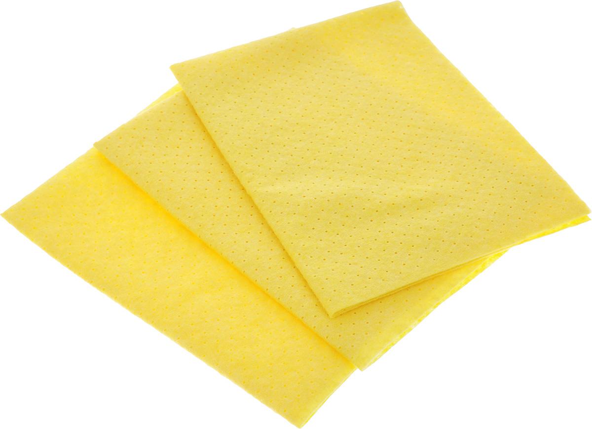 Салфетка вискозная Youll love, цвет: желтый, 30 х 38 см, 3 шт57167Универсальная салфетка Youll love подходит для всех видов поверхностей. Наличие перфорации (множество мелких отверстий) позволяет увеличить впитываемость влаги, пыли и грязи по сравнению с обычной вискозной салфеткой. Изделие выполнено из вискозы и полиэстера. Салфетка долговечная, не царапает поверхности. Подходит для сухой и влажной уборки.