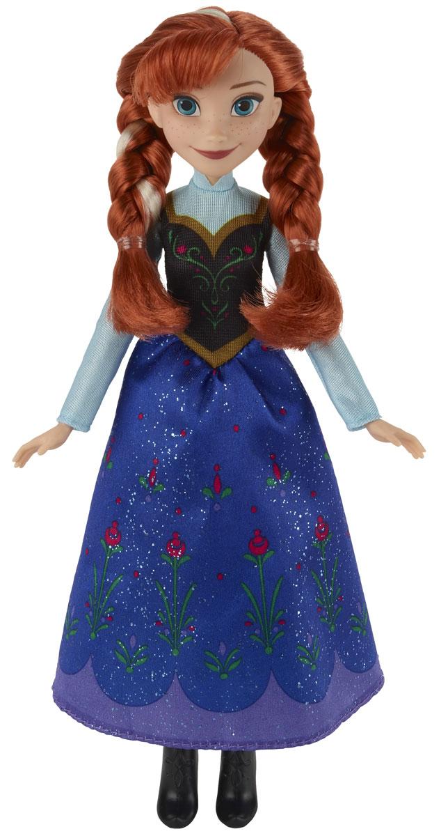 Disney Frozen Кукла Анна из ЭренделаB5163ES2_SolidКукла Disney Frozen Анна из Эрендела поможет вашей малышке окунуться в сказочный мир. Куколка выполнена в виде главной героини диснеевского мультфильма Холодное сердце. Анна одета в красивое платье с цветочным узором. На ногах высокие ботильоны. Шикарные рыжие волосы заплетены в две толстые косы. Голова, ручки и ножки куколки подвижны. Ваша малышка с удовольствием будет играть с этой куколкой, проигрывая сюжеты из мультфильма или придумывая различные истории.