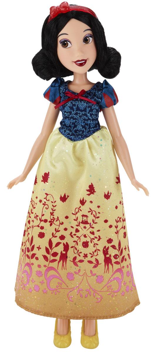 Disney Princess Кукла Принцесса Белоснежка B5289B5289ES2_SolidКукла Disney Princess Принцесса Белоснежка поможет вашей малышке окунуться в удивительный сказочный мир. Очаровательная кукла выполнена в виде диснеевской принцессы - Белоснежки. У нее черные волосы, большие глаза и сияющая улыбка. Одета Белоснежка в длинное текстильное платье с синим верхом, покрытым блестками, и желтой пышной юбкой, на ногах у нее желтый туфельки, а на голове - прекрасная диадема. Ваша малышка с удовольствием будет играть с этой куколкой, проигрывая сюжеты из мультфильма или придумывая различные истории. Игры с куклой способствуют эмоциональному развитию ребенка, а также помогают формировать воображение и художественный вкус. Малышка проведет множество счастливых часов, играя с очаровательной принцессой. Великолепное качество исполнения делают эту игрушку чудесным подарком к любому празднику.
