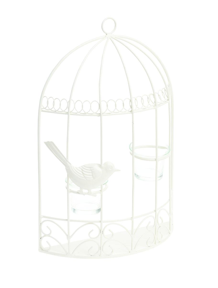 Подсвечник настенный Gardman Birdcage, 33 x 23 x 7 см17522Настенный декоративный подсвечник Gardman Birdcage порадует каждого, кто его увидит. Он выполнен из металла в виде клетки и оснащен двумя подставками со стеклянными емкостями для размещения свечей. Теплое мерцание пламени свечи подарит вам настроение волшебства и торжественности. Создайте в своем доме атмосферу уюта, преображая интерьер стильными, радующими глаза предметами.