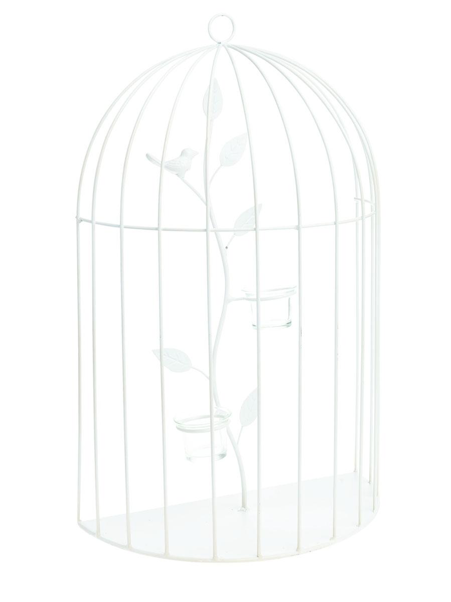 Подсвечник настенный Gardman Birdcage, 55 х 35 х 8,5 см17524Настенный декоративный подсвечник Gardman Birdcage порадует каждого, кто его увидит. Он выполнен из металла в виде клетки и оснащен подставками со стеклянными емкостями для размещения свечей. Теплое мерцание пламени свечи подарит вам настроение волшебства и торжественности. Создайте в своем доме атмосферу уюта, преображая интерьер стильными, радующими глаза предметами.