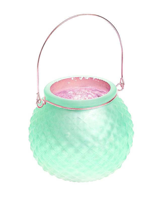 """Подсвечник подвесной Gardman """"Honey Pot. Diamond"""", цвет: светло-зеленый, 8,5 см 17624"""