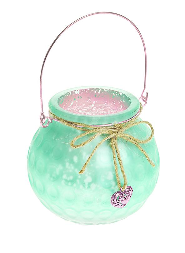 """Подсвечник подвесной Gardman """"Honey Pot"""", цвет: светло-зеленый, 8,5 см 17625"""