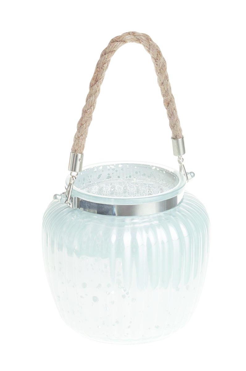 Подсвечник Gardman Ribbed Jar. Medium, цвет: белый, 13 см17837