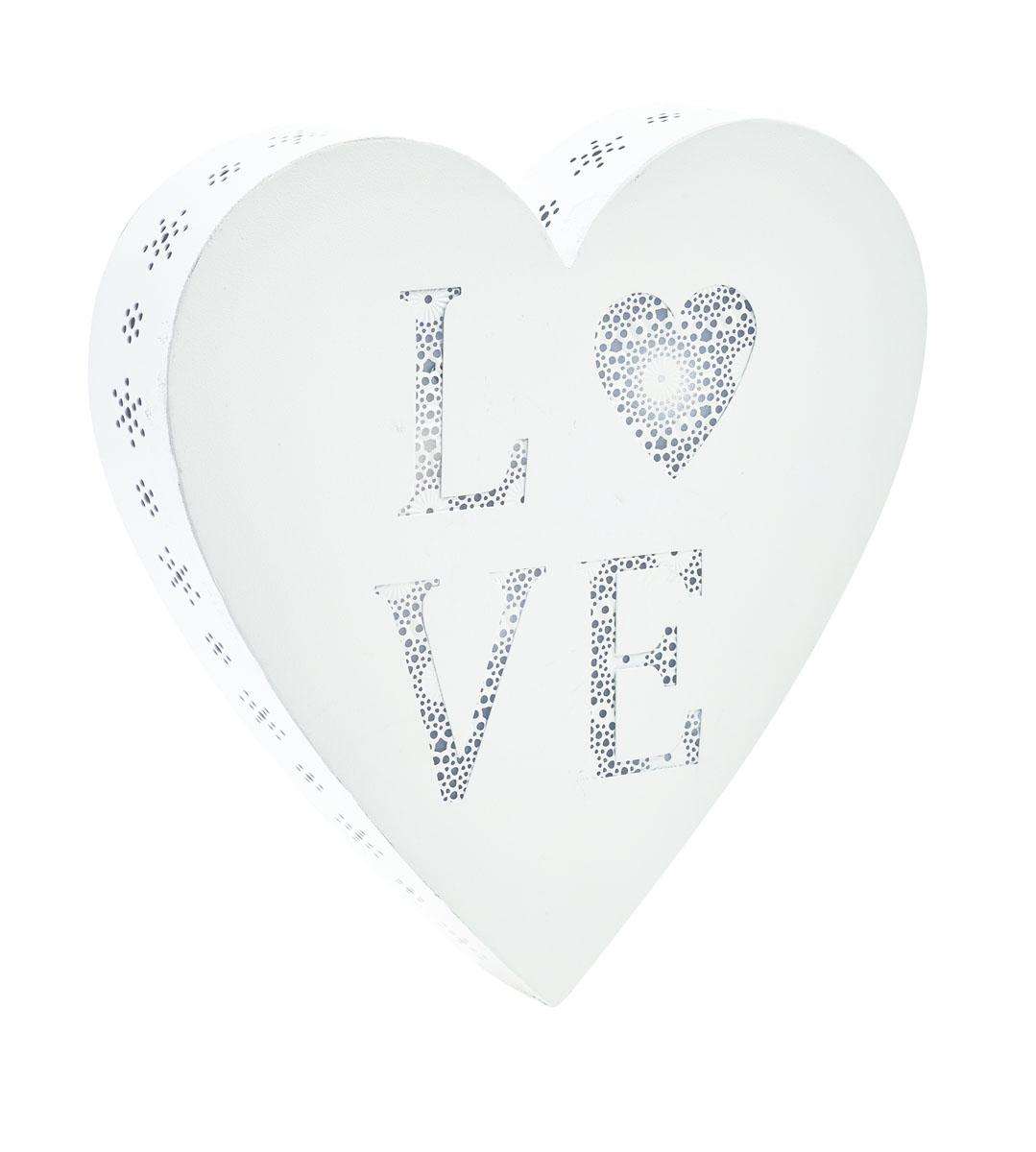 Декоративное настенное украшение Gardman Love Heart, с LED подсветкой, 25,5 x 5 х 25,5 см17273Декоративное настенное украшение Gardman Love Heart изготовлено из металла. Для удобства размещения изделие оснащено отверстиями для подвешивания. LED подсветка придаст неповторимый дизайн вашему интерьеру. Работает от 2 батареек типа AA (входят в комплект). Имеет встроенный таймер, с возможностью программирования на 6 и 18 часов.