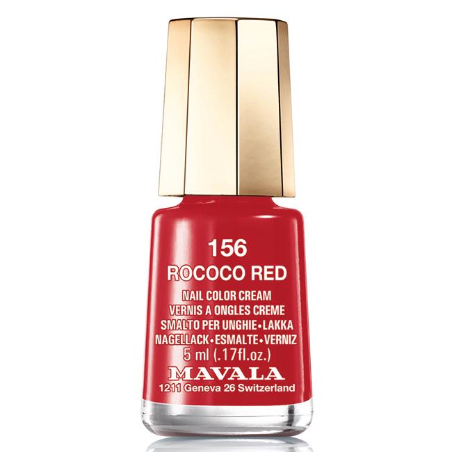 Mavala Лак для ногтей Чувственный красный Rococo Red , Тон 156, 5 мл08-052Лаки для ногтей Mavala представлены классическими и ультрамодными оттенками. Они пропускают воздух даже через 3-4 слоя, давая возможность ногтям дышать. Специально разработанный состав лаков позволяет им оставаться свежими и насыщенными долгое время. Лаки не содержат толуол, формальдегид, камфору, дибутил фталат, канифоль и добавленный никель.