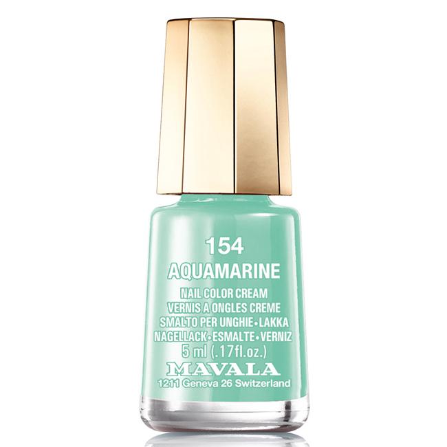 Mavala Лак для ногтей Аквамарин Aquamarine, Тон 154, 5 мл08-089Лаки для ногтей Mavala представлены классическими и ультрамодными оттенками. Они пропускают воздух даже через 3-4 слоя, давая возможность ногтям дышать. Специально разработанный состав лаков позволяет им оставаться свежими и насыщенными долгое время. Лаки не содержат толуол, формальдегид, камфору, дибутил фталат, канифоль и добавленный никель.
