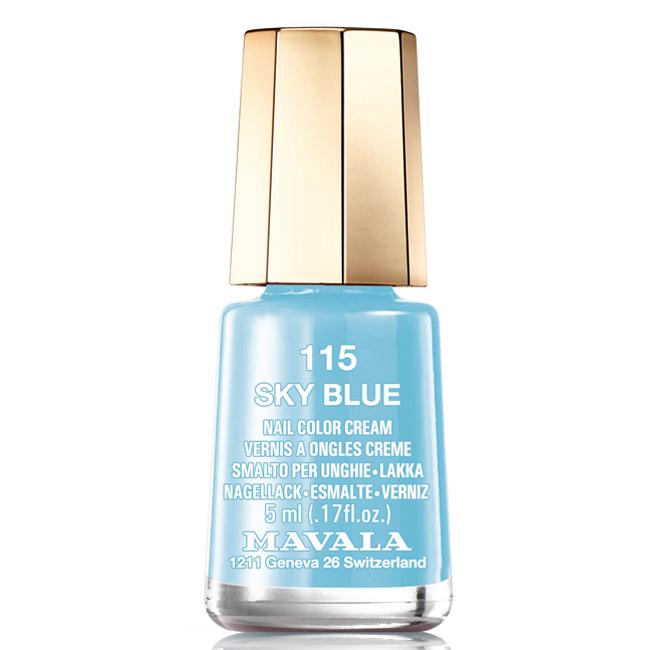 Mavala Лак для ногтей Ясное небо/Sky Blue , Тон 115, 5 мл08-1440Лаки для ногтей Mavala представлены классическими и ультрамодными оттенками. Они пропускают воздух даже через 3-4 слоя, давая возможность ногтям дышать. Специально разработанный состав лаков позволяет им оставаться свежими и насыщенными долгое время. Лаки не содержат толуол, формальдегид, камфору, дибутил фталат, канифоль и добавленный никель.