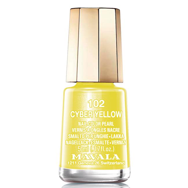 Mavala Лак для ногтей Кибер желтый/Cyber Yellow, Тон 102, 5 мл08-1445Лаки для ногтей Mavala представлены классическими и ультрамодными оттенками. Они пропускают воздух даже через 3-4 слоя, давая возможность ногтям дышать. Специально разработанный состав лаков позволяет им оставаться свежими и насыщенными долгое время. Лаки не содержат толуол, формальдегид, камфору, дибутил фталат, канифоль и добавленный никель.