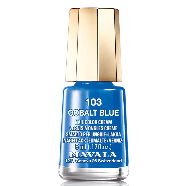 Mavala Лак для ногтей Кобальтовый ультрамарин/Cobalt Blue, Тон 103, 5 мл08-1446Лаки для ногтей Mavala представлены классическими и ультрамодными оттенками. Они пропускают воздух даже через 3-4 слоя, давая возможность ногтям дышать. Специально разработанный состав лаков позволяет им оставаться свежими и насыщенными долгое время. Лаки не содержат толуол, формальдегид, камфору, дибутил фталат, канифоль и добавленный никель.