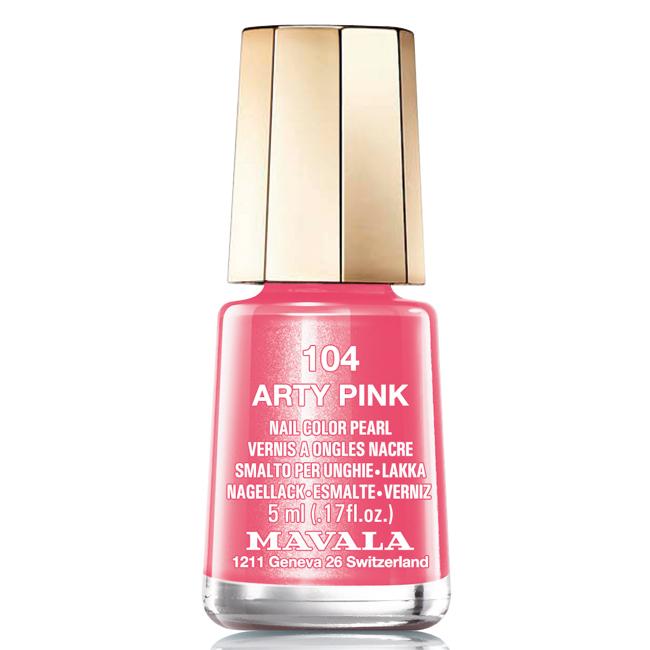 Mavala Лак для ногтей Розовый арт/Arty Pink, Тон 104, 5 мл08-1447Лаки для ногтей Mavala представлены классическими и ультрамодными оттенками. Они пропускают воздух даже через 3-4 слоя, давая возможность ногтям дышать. Специально разработанный состав лаков позволяет им оставаться свежими и насыщенными долгое время. Лаки не содержат толуол, формальдегид, камфору, дибутил фталат, канифоль и добавленный никель.