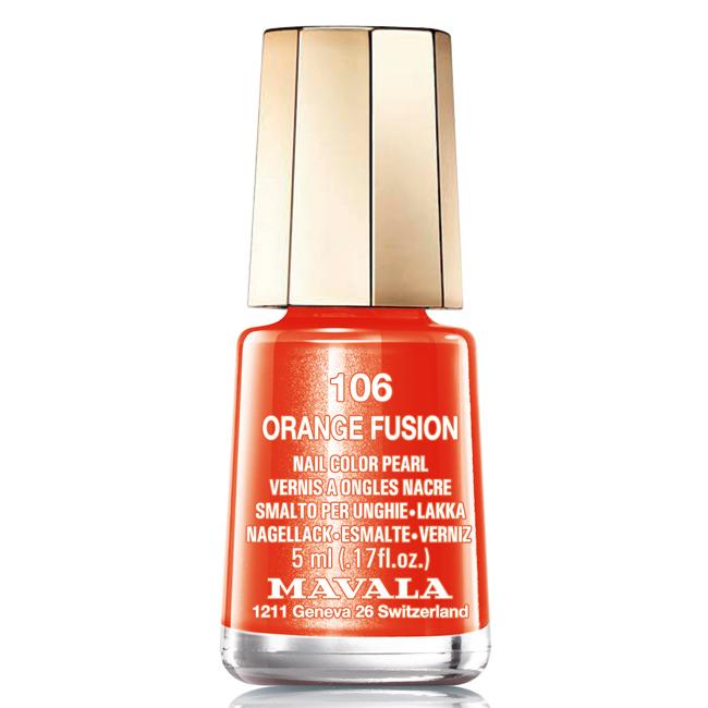 Mavala Лак для ногтей Оранжевая лава/Orange Fusion , Тон 106, 5 мл