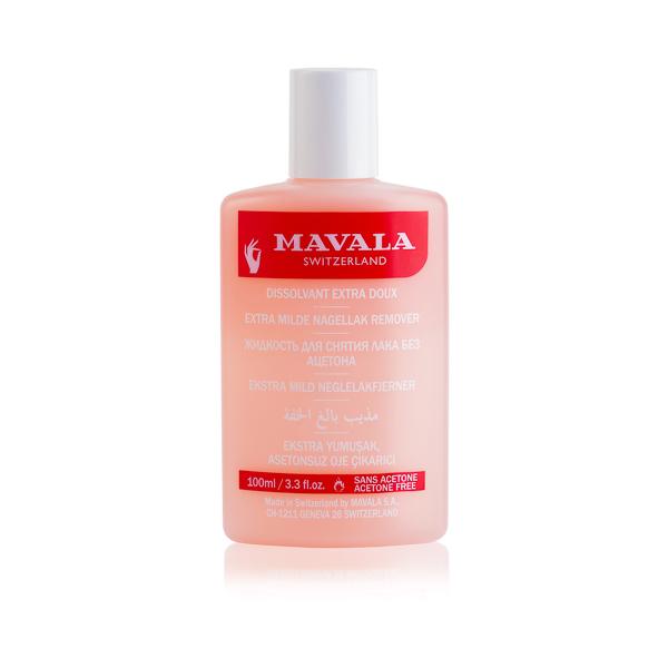 Mavala Жидкость для снятия лака Розовая Pink 100 мл08-348Жидкость для снятия лака без ацетона специально разработана для тонких и хрупких ногтей. Апельсиновое масло, входящее в ее состав, обладает антисептическими и антиоксидантными свойствами, увлажняет ногтевую пластину и кутикулу, улучшает структуру ногтей.