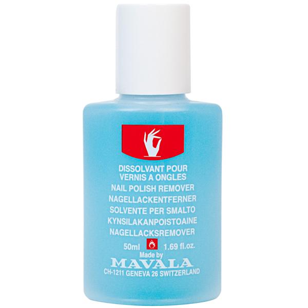 Mavala Жидкость для снятия лака Голубая/ NAIL POLISH REMOVER Blue 50 мл08-430Жидкость для снятия лака с минимальным содержанием ацетона легко удаляет любой вид лака не оставляя разводов. В состав жидкости входит касторовое масло, которое предотвращает пересыхание ногтевой пластины. Подходит для всех видов ногтей, кроме чувствительных.