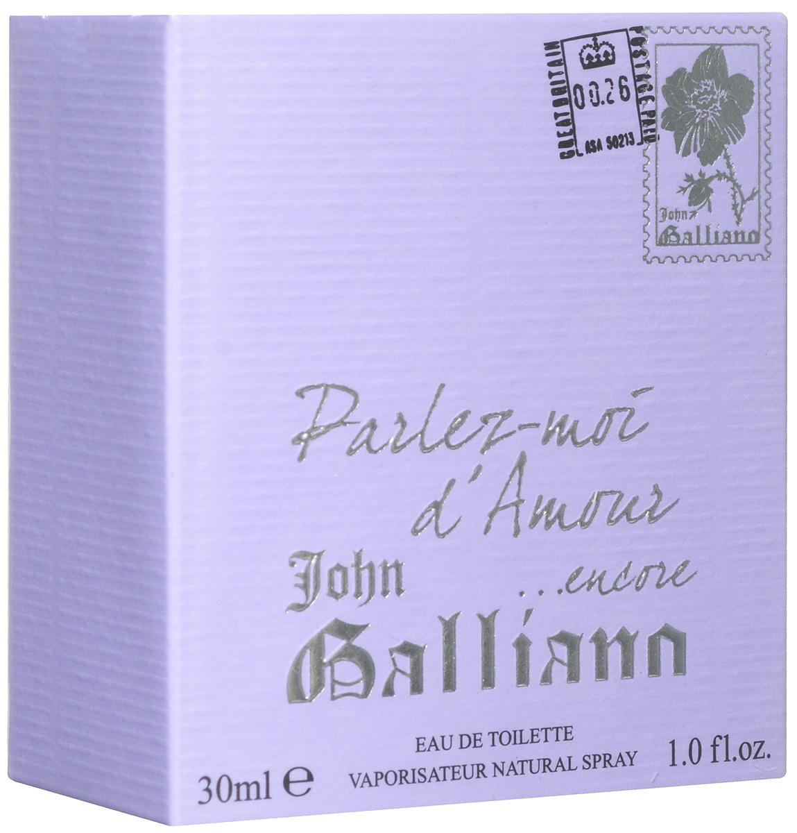 "John Galliano Туалетная вода ""Parlez-moi d'Amour... Encore"" женская, 30 мл 67000088"