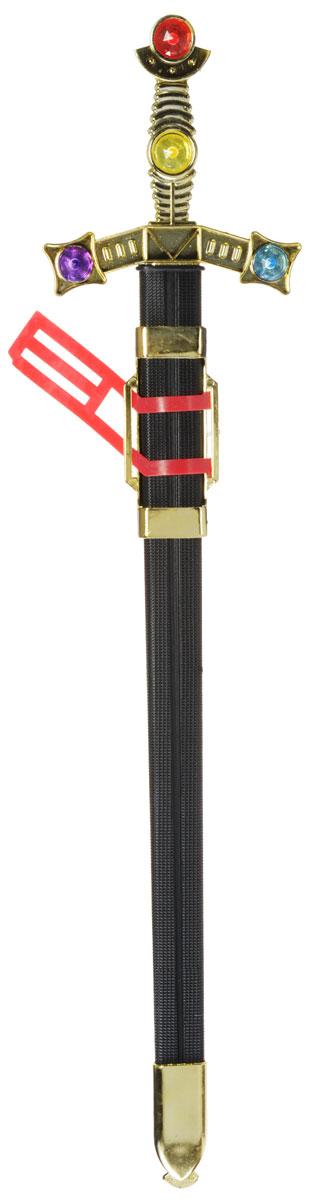 Plastic Toy Меч в ножнах цвет черный золотистый красныйB426153Меч в ножнах Plastic Toy станет отличным подарком юному защитнику. Изделие выполнено из безопасного для ребенка материала. Дизайн игрушечного оружия выполнен в средневековом стиле. Сам меч напоминает своим внешним видом настоящий, даже хранится в ножнах. Благодаря такой игрушке, ваш ребенок сможет почувствовать себя древним воином.