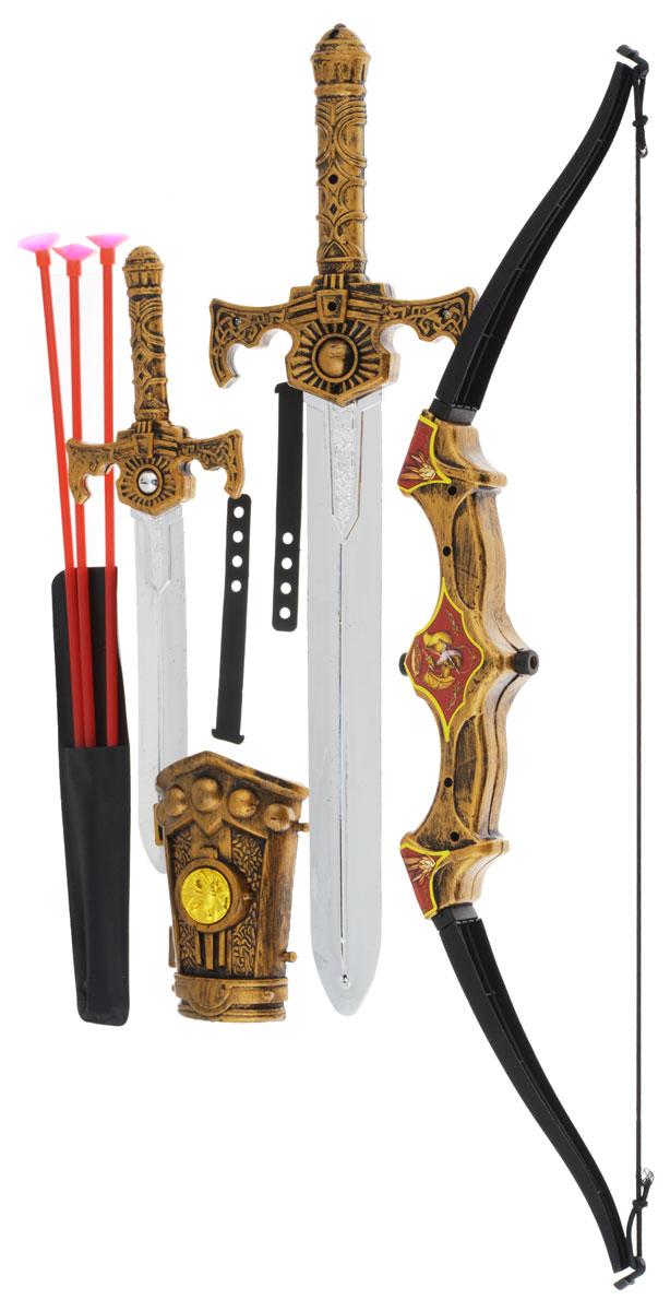 Plastic Toy Игровой набор KnightsB471890С игровым набором Plastic Toy Knights ребенок сможет почувствовать себя настоящим воином. В комплект входит лук со стрелами на присосках, 2 меча, а так же другие аксессуары. С этим набором ребенок может стать настоящим воином-защитником. Все элементы набора выполнены из прочного и безопасного для ребенка материала.