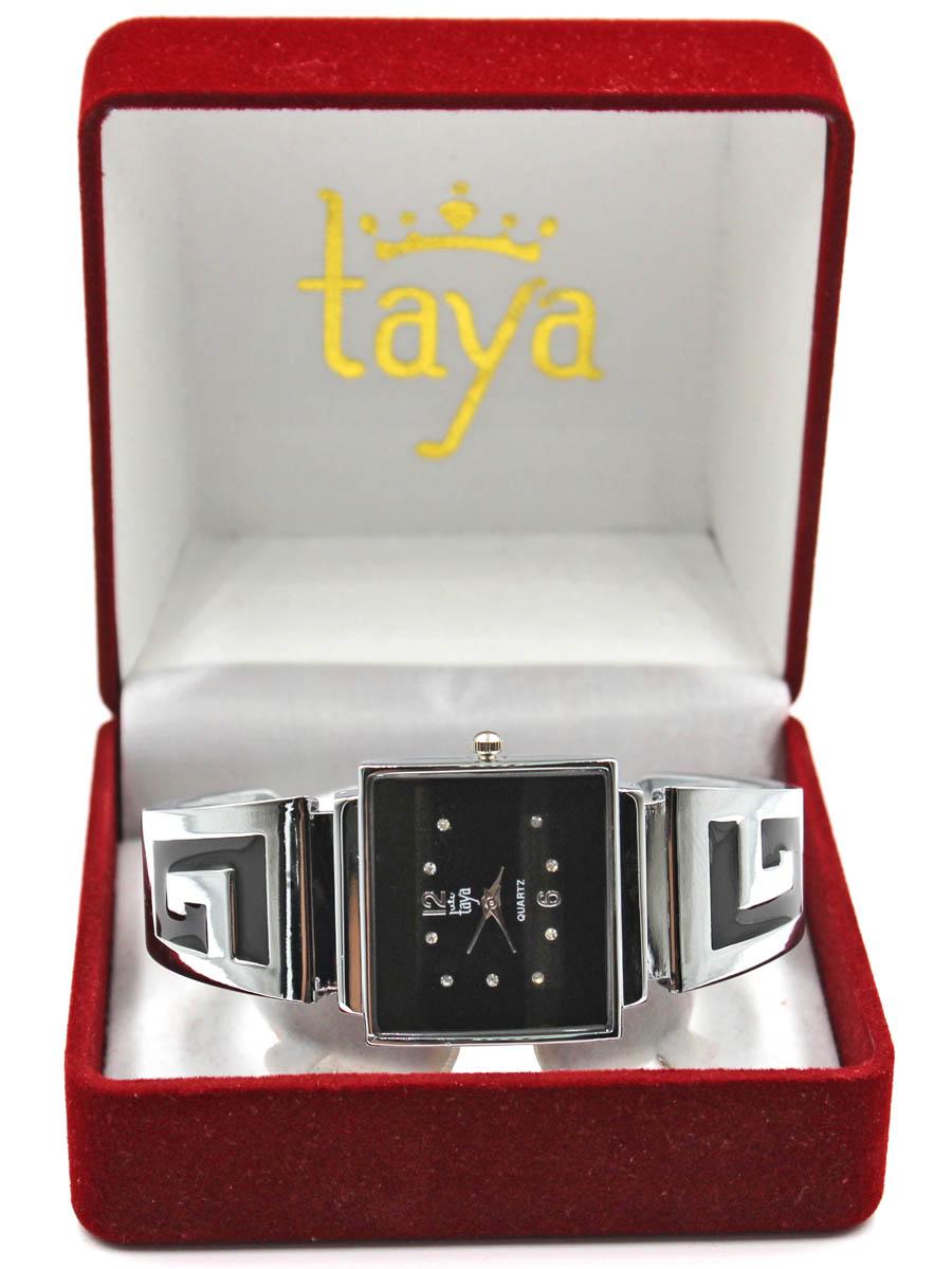 Часы TAYA T-W-0402-WATCH-SL.BLACKT-W-0402-WATCH-SL.BLACKFashion аксессуар - браслет с часами. Раздвижной браслет с пружинным механизмом позволяет одеть часы на любую руку. Часы наручные электронно-механические кварцевые, аксессуарные, с механической индикацией. Часовой механизм MORIOKA TOKEI inc., Сингапур с питанием от сменного кварцевого элемента питания типа LR626. Гипоаллергенный бижутерный сплав, корпус из нержавеющей стали, минеральное стекло, стразы, эмаль