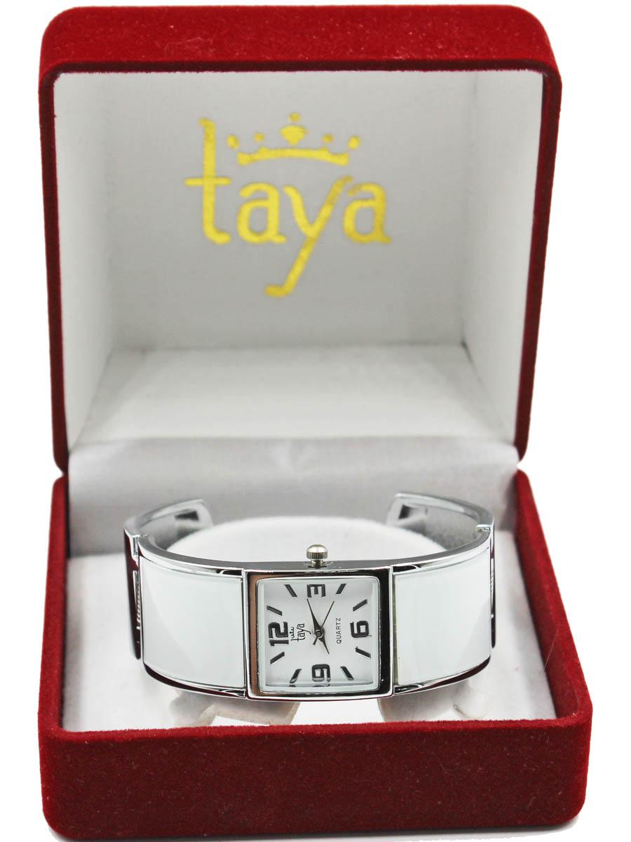 Часы TAYA T-W-0407-WATCH-SL.WHITET-W-0407-WATCH-SL.WHITEFashion аксессуар - браслет с часами. Раздвижной браслет с пружинным механизмом позволяет одеть часы на любую руку. Часы наручные электронно-механические кварцевые, аксессуарные, с механической индикацией. Часовой механизм MORIOKA TOKEI inc., Сингапур с питанием от сменного кварцевого элемента питания типа LR626. Гипоаллергенный бижутерный сплав, корпус из нержавеющей стали, минеральное стекло