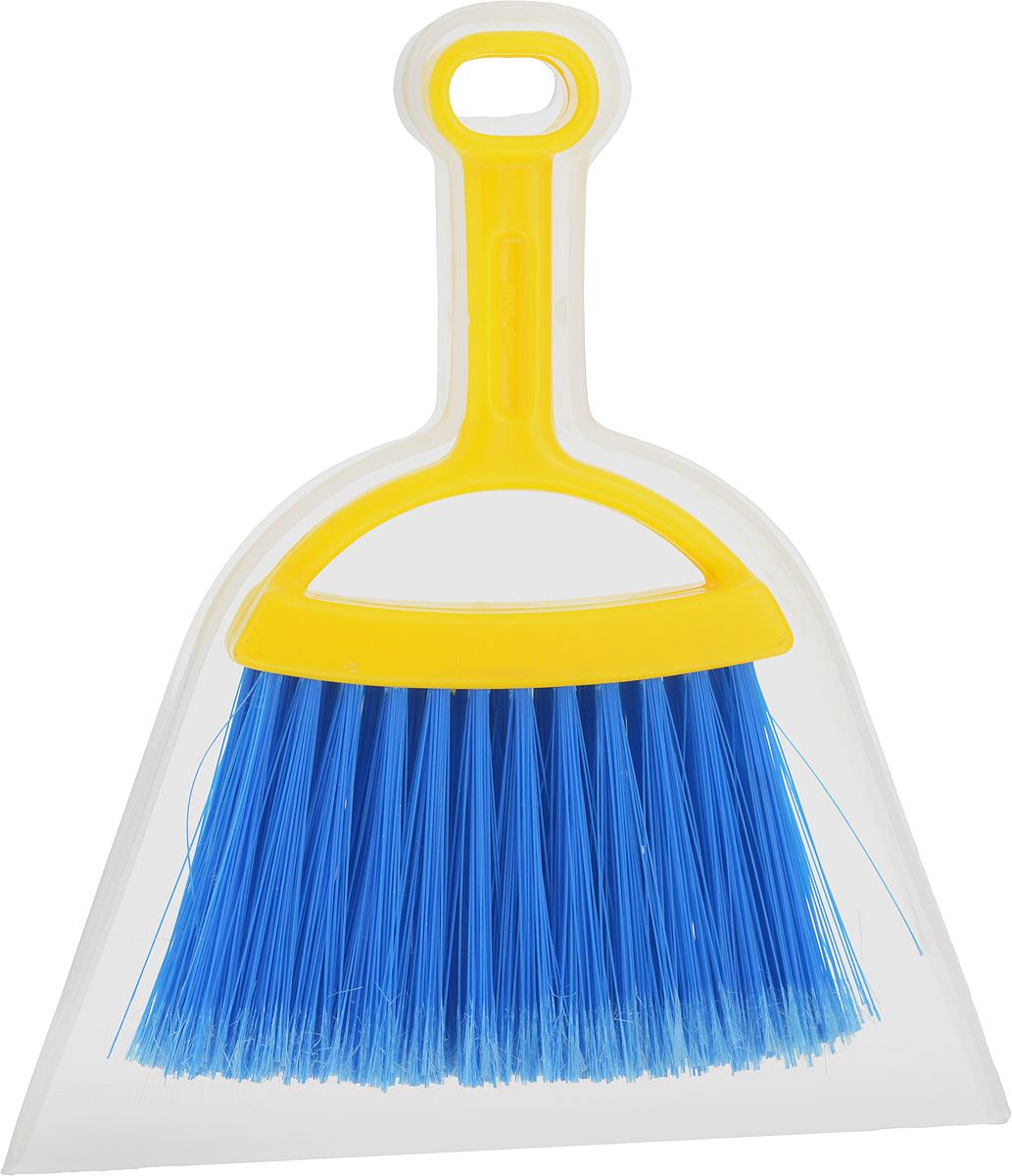 Набор для уборки Fratelli RE Mini, цвет: прозрачный, желтый, 2 предмета11701-A_прозрачный, желтыйНабор для уборки Fratelli RE Mini включает в себя совок и щетку-сметку, выполненные из прочного пластика и сложных полимеров. Эластичный ворс на щетке не оставит от грязи и следа, мусор будет легко сметаться на него. Для дополнительного удобства совок и щетка-сметка снабжены специальным креплением, с помощью которого, вложив щетку в совок, их можно разместить в любом месте. Размер совка: 21 х 19 х 2,5 см. Длина ручки совка: 8 см. Размер щетки: 19 х 14 х 2 см. Длина ручки щетки: 11 см. Длина ворса: 7,5 см.
