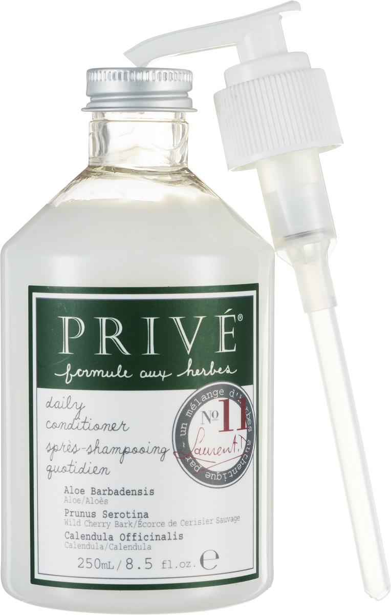 Prive Кондиционер для ежедневного ухода за волосами, 250 млPRV4912778Кондиционер Prive делает волосы здоровыми и блестящими, смягчает для лучшего расчёсывания. Ультра-лёгкая формула позволяет ухаживать за волосами ежедневно, делая послушными и не утяжеляя их. Алоэ-вера, экстракт коры дикой вишни и смесь трав прекрасно смягчают и увлажняют волосы. Имеет в составе пантенол. Прекрасно питает волосы, насыщая их протеинами. Сохраняет цвет окрашенных волос.