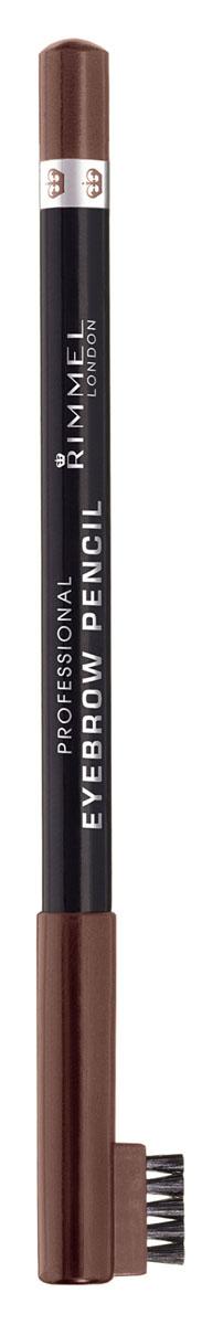 Rimmel Карандаш для бровей С Щеточкой `Professional Eyebrow Pencil` Re-pack 001 тон(dark brown),5,2 мл34007209001Мягкая формула для легкого нанесения; Натуральные оттенки для идеального макияжа бровей; Удобная щеточка-расческа подготавливает брови для использования карандаша, а затем облегчает равномерное распределение цвета.