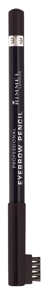 Rimmel Карандаш для бровей С Щеточкой `Professional Eyebrow Pencil` Re-pack 004 тон(brown black),5,2 мл34007209004Мягкая формула для легкого нанесения; Натуральные оттенки для идеального макияжа бровей; Удобная щеточка-расческа подготавливает брови для использования карандаша, а затем облегчает равномерное распределение цвета.