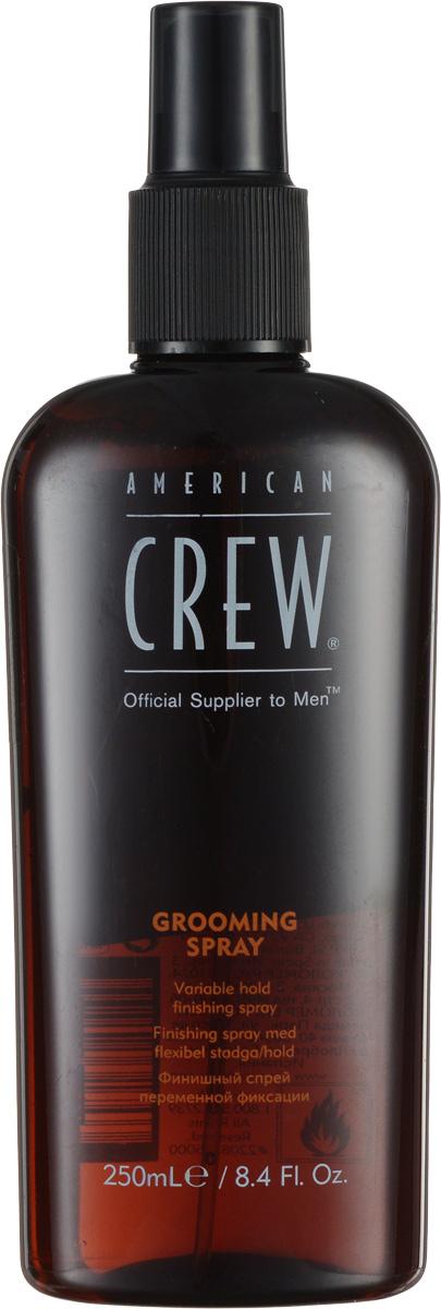 American Crew Спрей для укладки волос Classic Grooming Spray 250 мл7209566000American Crew Classic Grooming Spray это фиксирующий спрей для финальной укладки волос. Натуральные увлажняющие вещества, из которых состоит средство, облегчают процесс расчесывания и придают волосам природный блеск. Алоэ вера увлажняет и кондиционирует волосы. Также входящие в состав American Crew спрея UV-фильтры надежно защищают волосы от негативного воздействия ультрафиолетовых лучей.