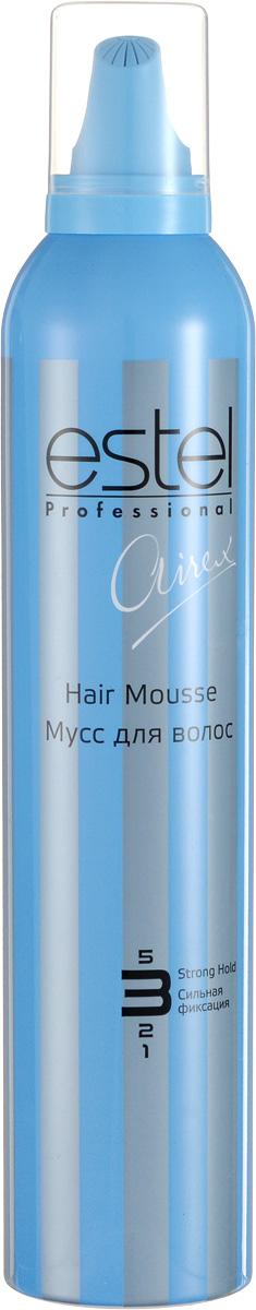 Estel Airex Мусс для волос сильной фиксации 316 млAM/8Мусс для волос сильной фиксации Estel Airex обеспечивает сильную фиксацию, придает волосам дополнительный объем. Профессиональная формула с UV - фильтром и провитамином В5 укрепляет и защищает волосы, придает естественный блеск. Специально для профессионального применения.