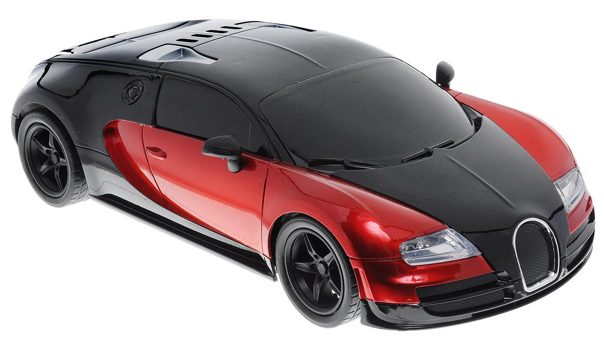 Plastic Toy Машина на радиоуправлении Model Car цвет черный красныйB1396032_черный, красныйМашина на радиоуправлении Plastic Toy Model Car предназначена для тех, кто любит роскошь и высокие скорости. Корпус автомобиля выполнен из пластика, колеса прорезинены. Управление машинкой происходит с помощью пульта. Машинка двигается вперед и назад, поворачивает направо, налево и останавливается. Имеются световые эффекты. Пульт управления работает на частоте 27 MHz. Колеса игрушки прорезинены и обеспечивают плавный ход, машинка не портит напольное покрытие. Радиоуправляемые игрушки способствуют развитию координации движений, моторики и ловкости. Ваш ребенок часами будет играть с моделью, придумывая различные истории и устраивая соревнования. Порадуйте его таким замечательным подарком! Для работы игрушки необходимы 4 батарейки типа АА (не входят в комплект). Для работы пульта управления необходимы 2 батарейки типа АА (не входят в комплект).