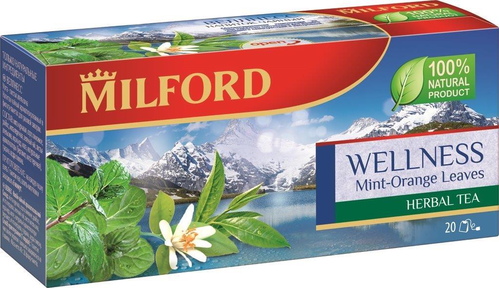 Milford Веллнесс травяной чай в пакетиках, 20 шт бая488